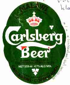 Carlsberg beer label