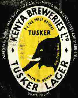 Tusker Beer Label