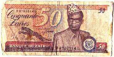 Zaire banknote